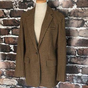 Ralph Lauren Blazer Jacket Suit Coat Brown Wool 6